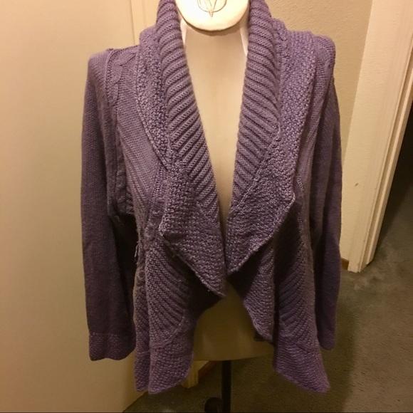 47f5b3d46f7 Boutique lavender waterfall cardigan 1X Plus